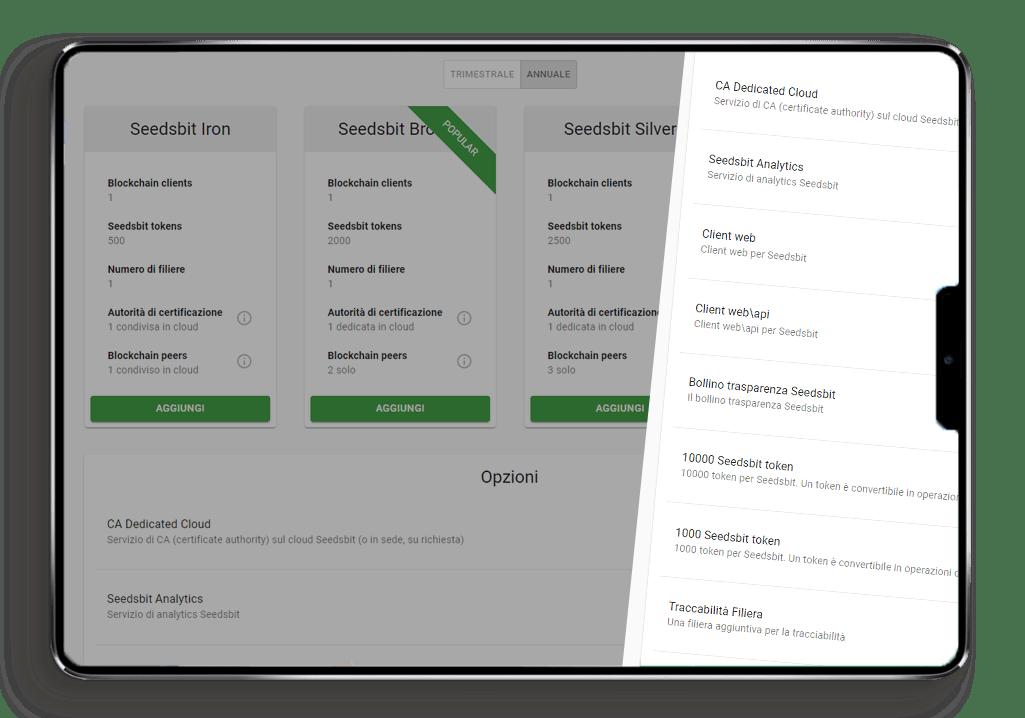Offerte Commerciali Piattaforma Seedsbit